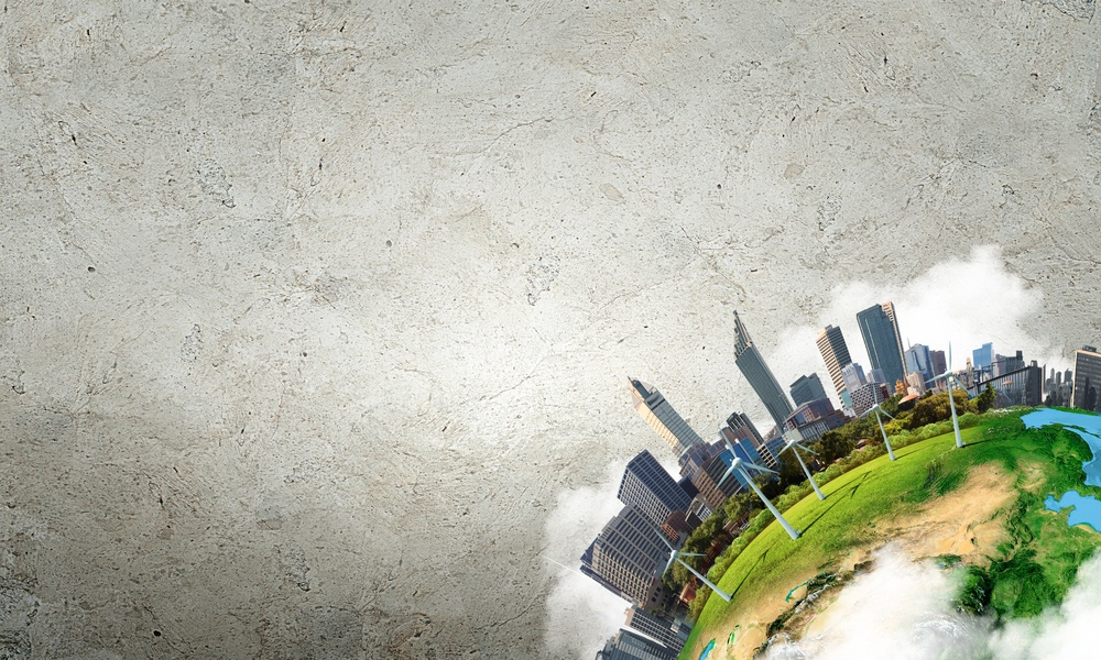Conceptual image of city landscape. Elements of this image are furnished by NASA.jpeg